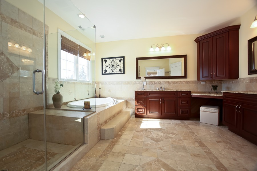 Real Estate Photography - 251 N Park, Westmont, IL, 60559 - Master Bathroom