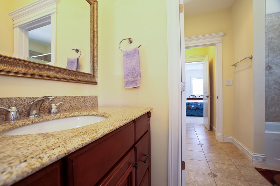 Real Estate Photography - 251 N Park, Westmont, IL, 60559 - 2nd Bathroom
