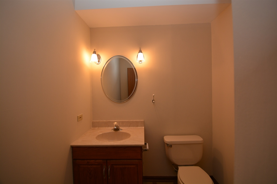 Real Estate Photography - 506 Pinecreek Dr, North Aurora, IL, 60542 - Powder Room