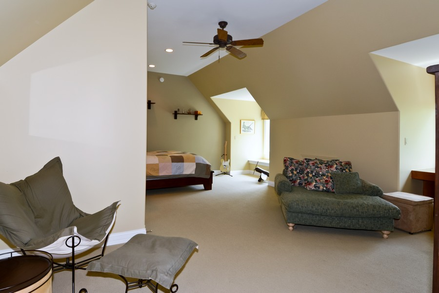 Real Estate Photography - 8S223 Derby Dr, Naperville, IL, 60540 - 5th Bedroom with bonus room on 3rd level