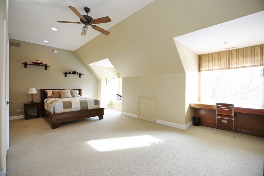 Real Estate Photography - 8S223 Derby Dr, Naperville, IL, 60540 - 5th bedroom on 3rd floor with private bath and ext