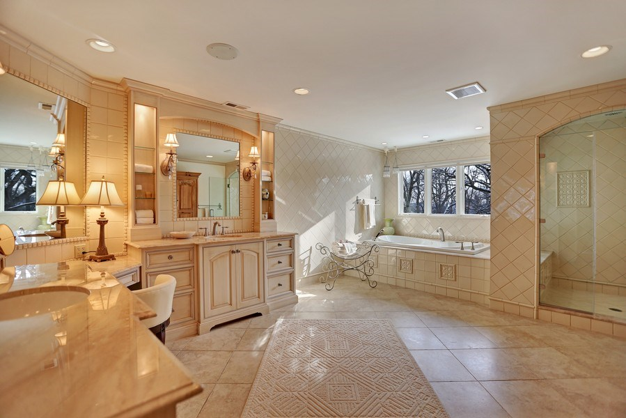 Real Estate Photography - 8S223 Derby Dr, Naperville, IL, 60540 - Chicago Tile wall tile and tile crown molding