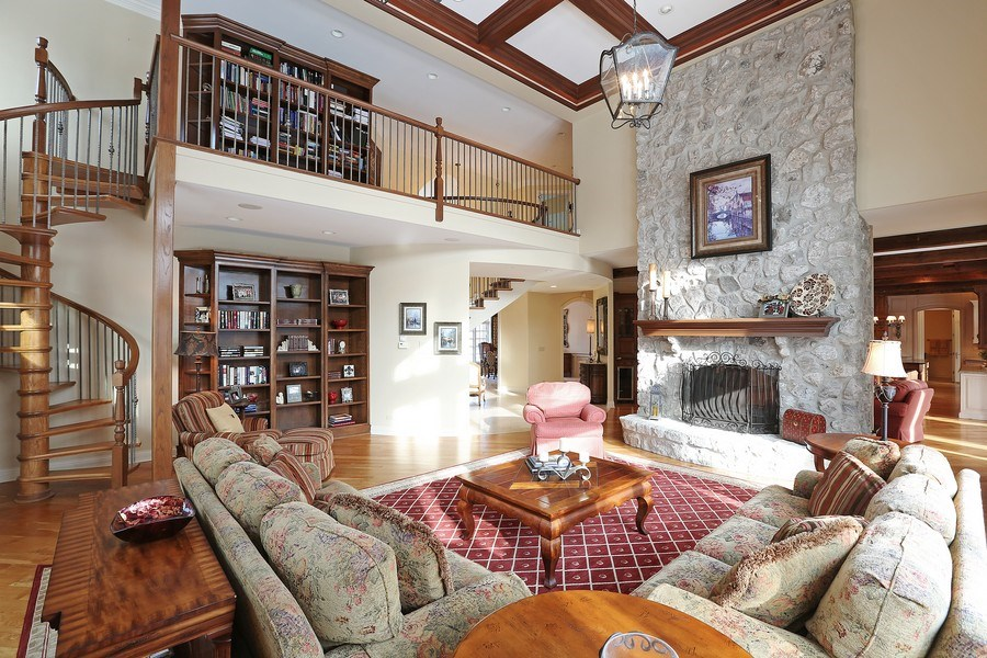 Real Estate Photography - 8S223 Derby Dr, Naperville, IL, 60540 - Family Room and upstairs library