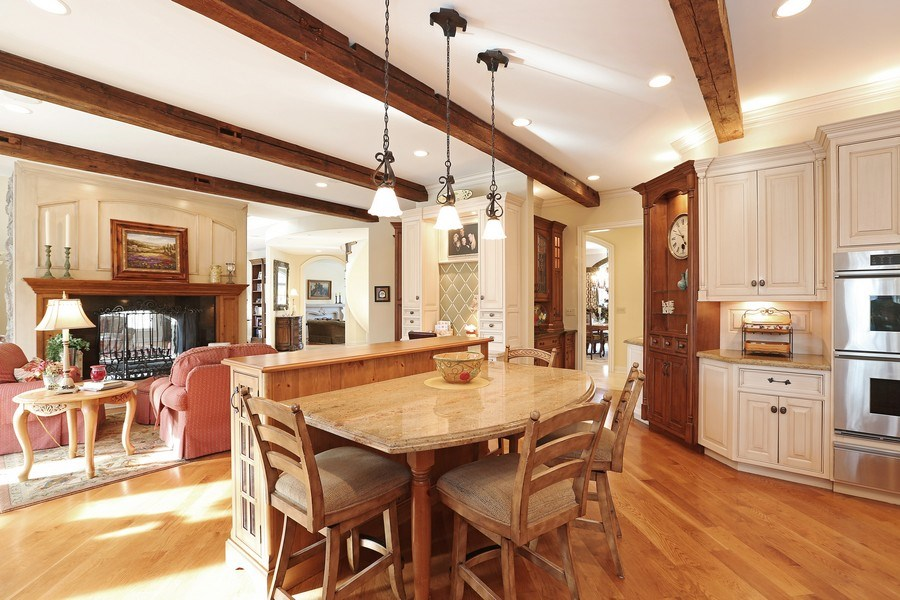 """Real Estate Photography - 8S223 Derby Dr, Naperville, IL, 60540 - Gathering area & """"dining island"""""""