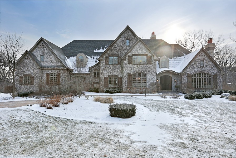 Real Estate Photography - 8S223 Derby Dr, Naperville, IL, 60540 - Hand selected quarried limestone exterior