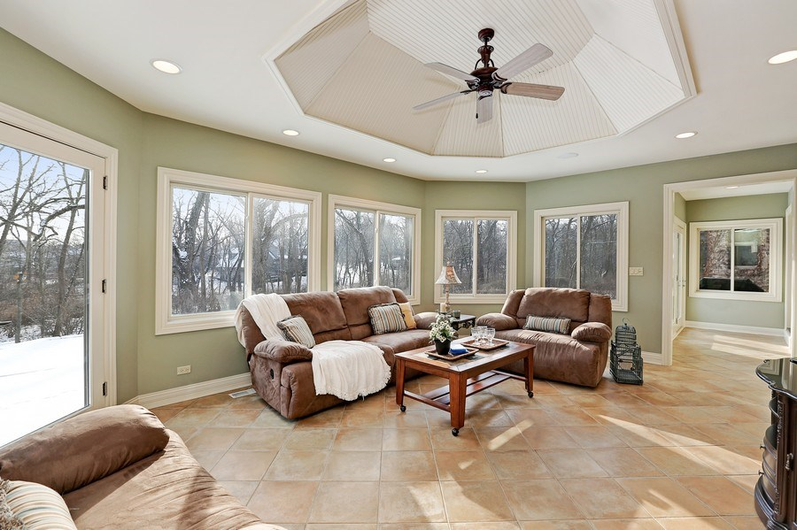 Real Estate Photography - 8S223 Derby Dr, Naperville, IL, 60540 - A spacious & cheerful sunroom