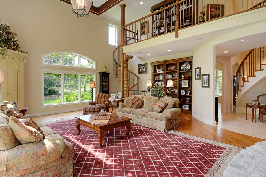 Real Estate Photography - 8S223 Derby Dr, Naperville, IL, 60540 - Family Room showing upstairs library