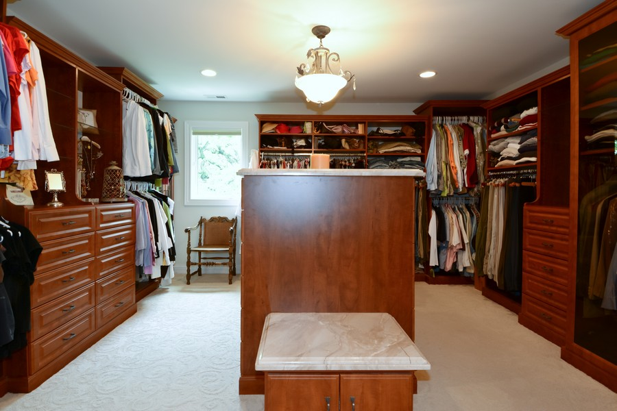 Real Estate Photography - 8S223 Derby Dr, Naperville, IL, 60540 - Master Bedroom Closet