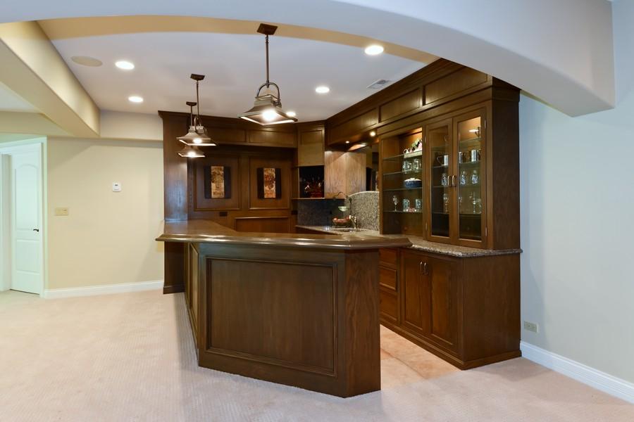 Real Estate Photography - 8S223 Derby Dr, Naperville, IL, 60540 - Basement bar