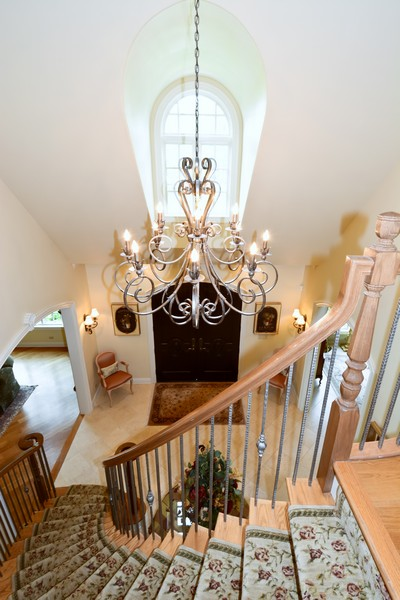 Real Estate Photography - 8S223 Derby Dr, Naperville, IL, 60540 - Foyer view from 2nd level