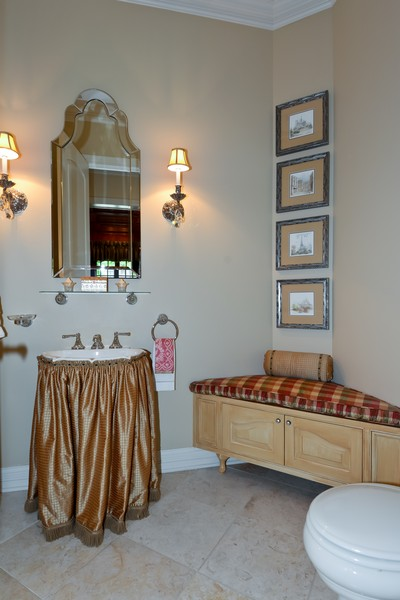 Real Estate Photography - 8S223 Derby Dr, Naperville, IL, 60540 - Powder Room