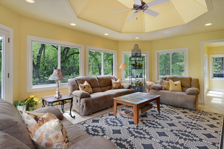 Real Estate Photography - 8S223 Derby Dr, Naperville, IL, 60540 - Sun Room