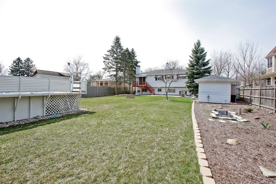 Real Estate Photography - 4519 Cumnor Rd, Downers Grove, IL, 60515 - Rear View