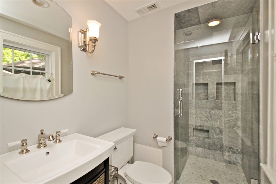 Real Estate Photography - 1302 Forest Ave, Highland Park, IL, 60035 - Master Bathroom