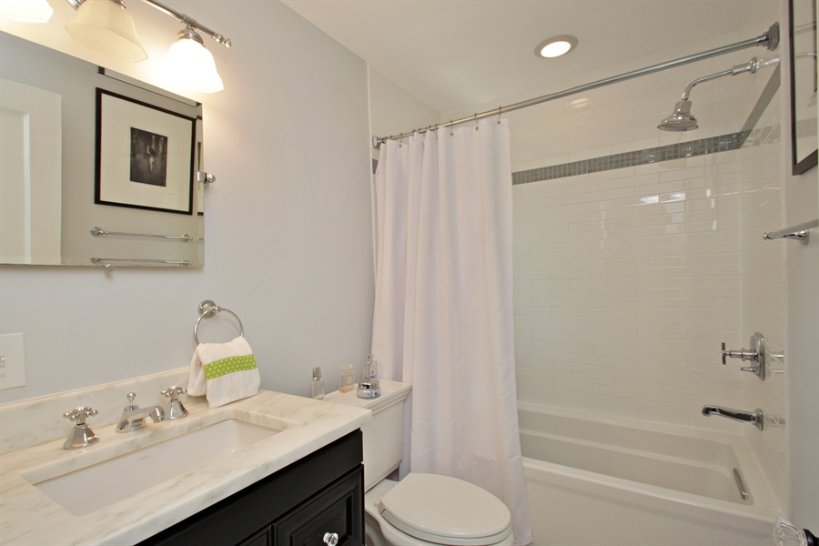 Real Estate Photography - 1302 Forest Ave, Highland Park, IL, 60035 - Bathroom