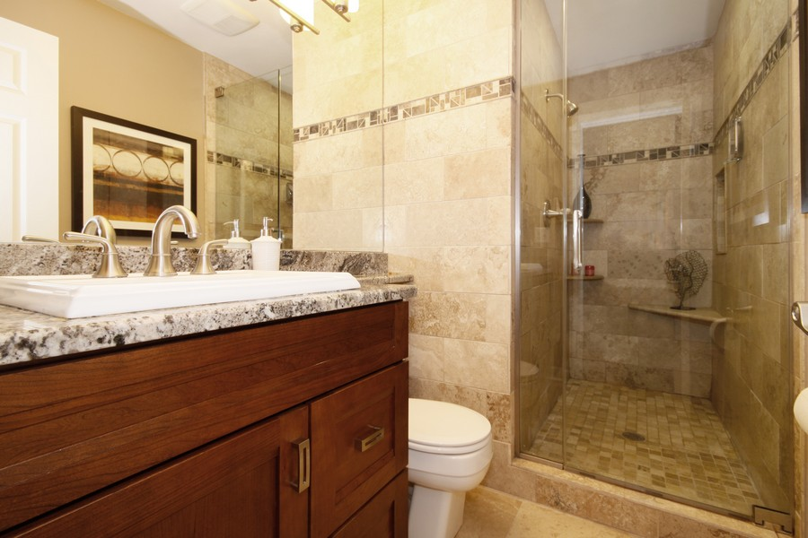 Real Estate Photography - 6123 Washington St, Downers Grove, IL, 60516 - Master Bathroom