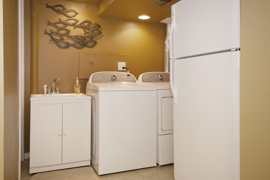 Real Estate Photography - 6123 Washington St, Downers Grove, IL, 60516 - New Washer/Dryer