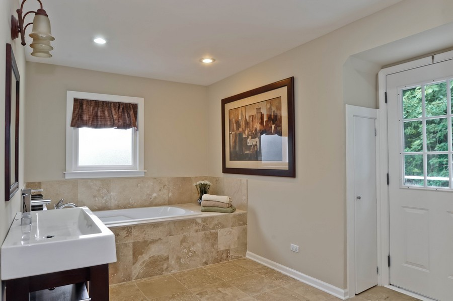 Real Estate Photography - 568 Chicago Ave, Highland Park, IL, 60035 - Master Bathroom
