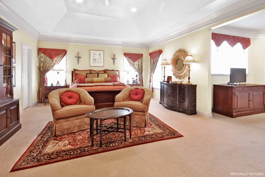 Real Estate Photography - 5331 Notting Hill Road, Gurnee, IL, 60031 - Master Bedroom