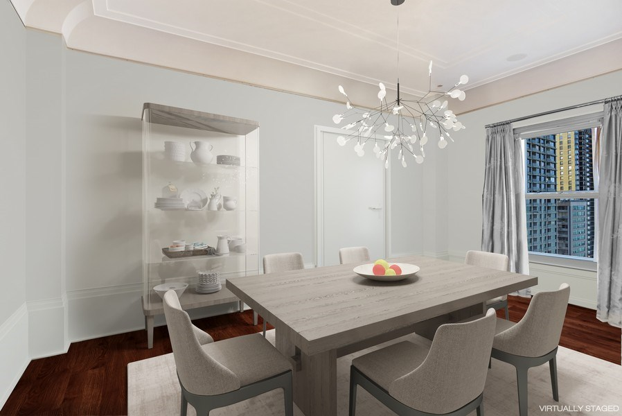Real Estate Photography - 159 East Walton Place, #17AC, Chicago, IL, 60611 - Dining Room