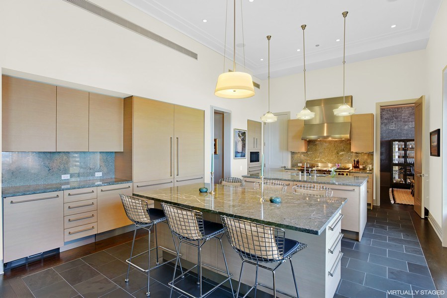 Real Estate Photography - 159 East Walton Place, #17AC, Chicago, IL, 60611 - Kitchen/Breakfast Bar