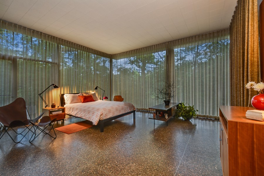 Real Estate Photography - 20841 Oak Ln, Olympia Fields, IL, 60461 - Master Bedroom at Dusk