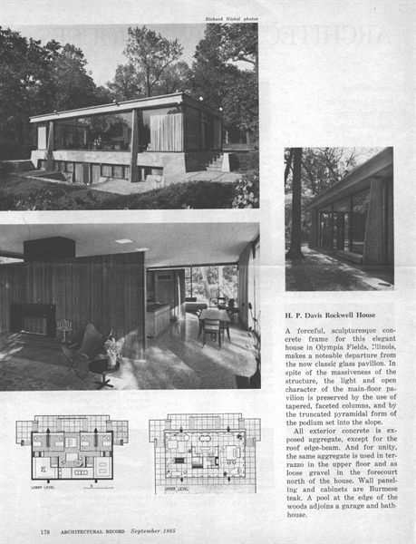 Real Estate Photography - 20841 Oak Ln, Olympia Fields, IL, 60461 - Architectural Record Article, Sept.1965