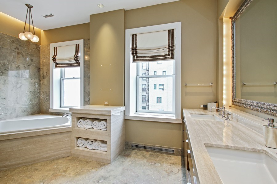 Real Estate Photography - 189 E Lake Shore Dr, Ste 18, Chicago, IL, 60611 - Master Bathroom