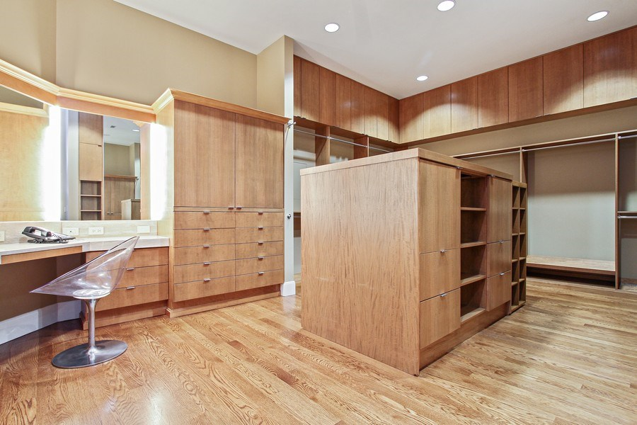 Real Estate Photography - 189 E Lake Shore Dr, Ste 18, Chicago, IL, 60611 - Master Bedroom Closet