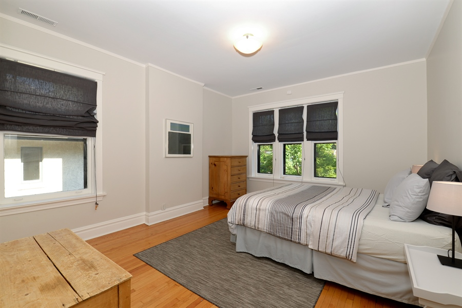 Real Estate Photography - 740 West Hutchinson St, Chicago, IL, 60613 - 2nd Bedroom