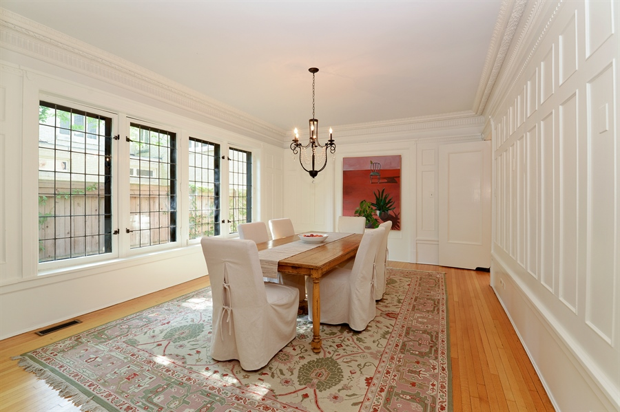 Real Estate Photography - 740 West Hutchinson St, Chicago, IL, 60613 - Dining Room