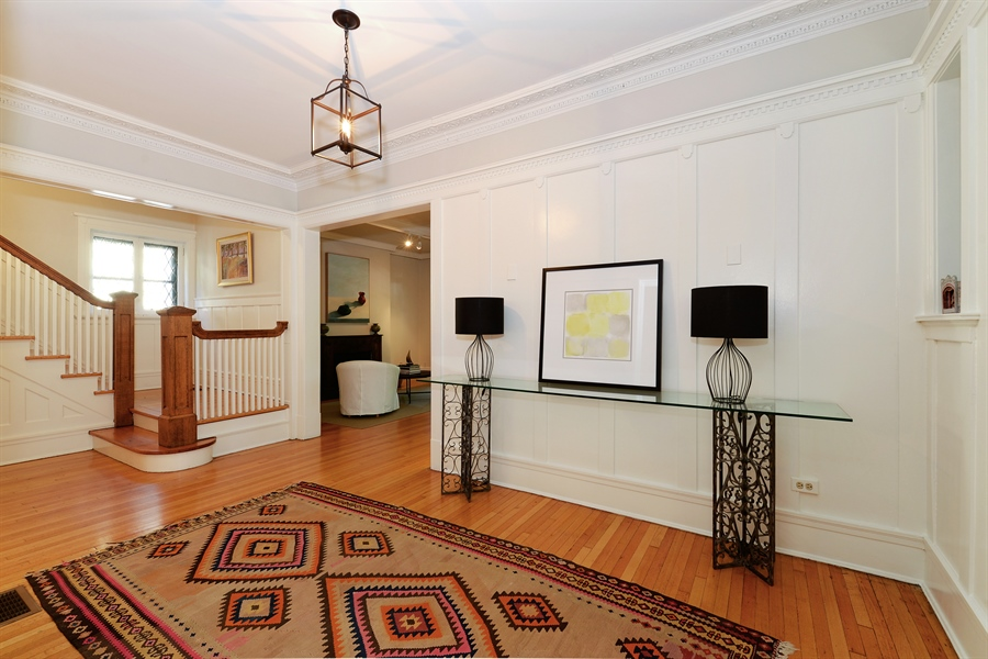 Real Estate Photography - 740 West Hutchinson St, Chicago, IL, 60613 - Foyer