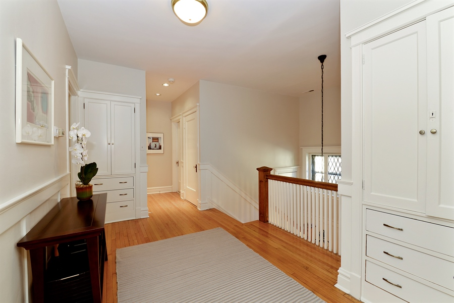 Real Estate Photography - 740 West Hutchinson St, Chicago, IL, 60613 - Upstairs Hallway
