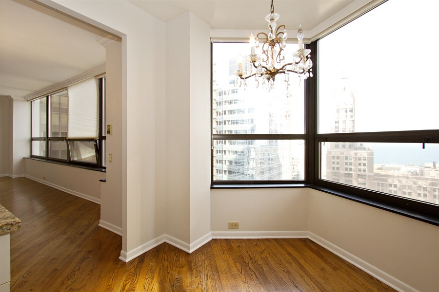 Real Estate Photography - 400 East Ohio St, 3002, Chicago, IL, 60611 - Dining Room