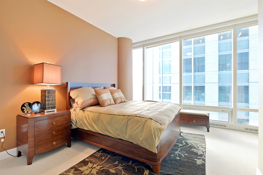 Real Estate Photography - 340 East Randolph St, 4406, Chicago, IL, 60601 - 2nd Bedroom