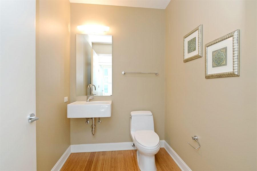 Real Estate Photography - 340 East Randolph St, 4406, Chicago, IL, 60601 - Half Bath