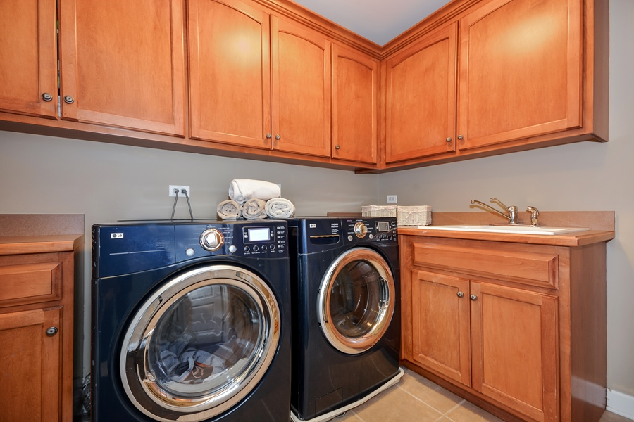 Real Estate Photography - 615 Papermill Hill Dr, Batavia, IL, 60510 - Upstairs Laundry Room