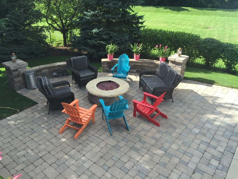 Real Estate Photography - 615 Papermill Hill Dr, Batavia, IL, 60510 - Fire Pit