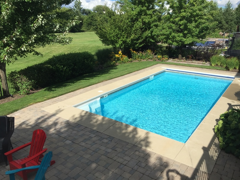 Real Estate Photography - 615 Papermill Hill Dr, Batavia, IL, 60510 - Beautiful In-ground Pool