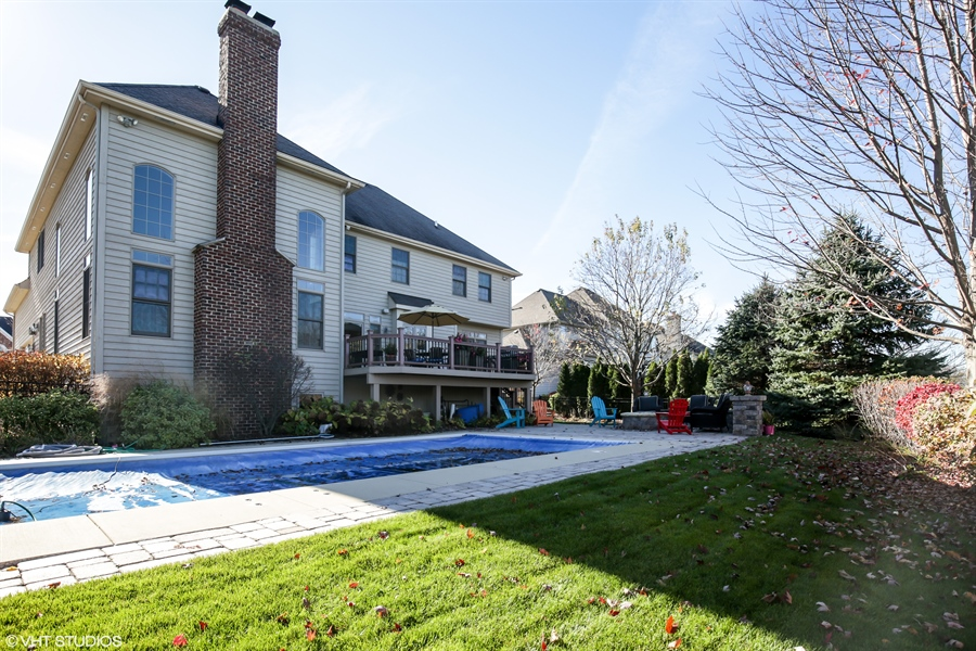 Real Estate Photography - 615 Papermill Hill Dr, Batavia, IL, 60510 - Back view of home