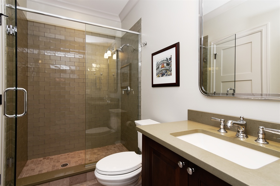 Real Estate Photography - 3453 N Seeley, Chicago, IL, 60618 - 4th Bathroom