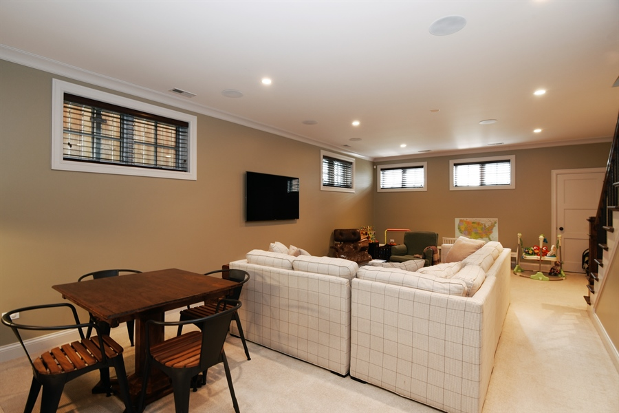 Real Estate Photography - 3453 N Seeley, Chicago, IL, 60618 - Lower Level