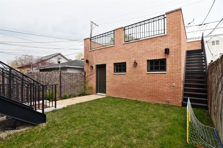 Real Estate Photography - 3453 N Seeley, Chicago, IL, 60618 - Back Yard