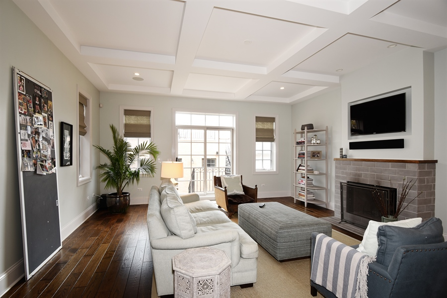 Real Estate Photography - 3453 N Seeley, Chicago, IL, 60618 - Family Room