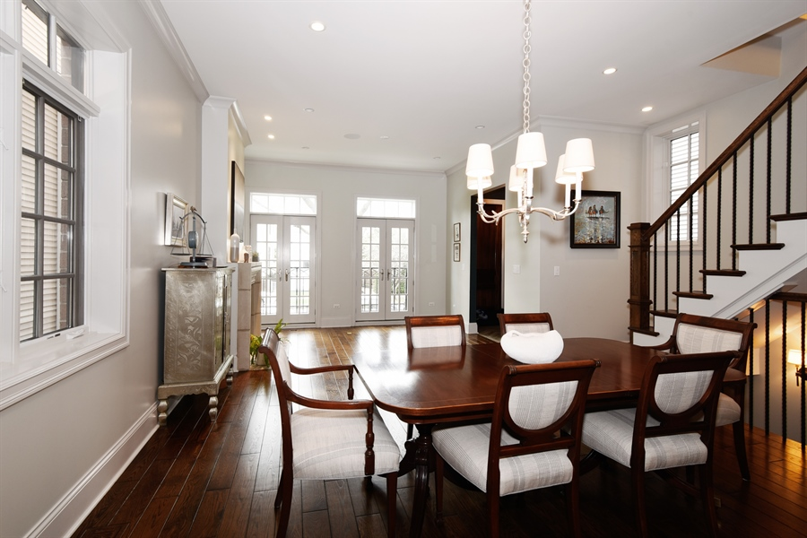 Real Estate Photography - 3453 N Seeley, Chicago, IL, 60618 - Living Room / Dining Room