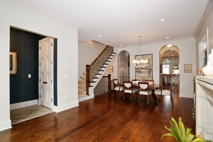 Real Estate Photography - 3453 N Seeley, Chicago, IL, 60618 - Living Room/Dining Room