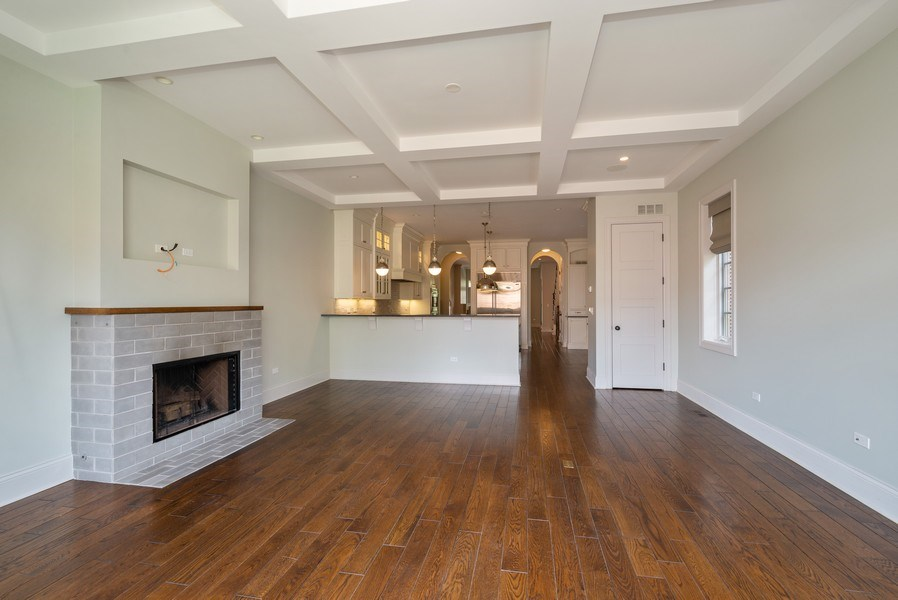 Real Estate Photography - 3453 N Seeley, Chicago, IL, 60618 - Family Room / Kitchen