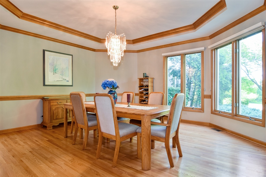 Real Estate Photography - 1581 Far Hills Dr, Bartlett, IL, 60103 - Dining Room