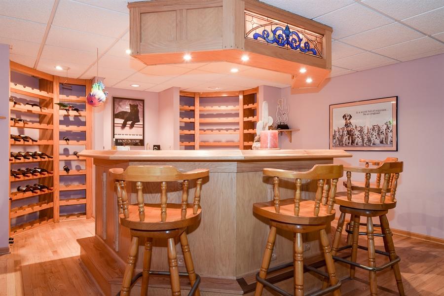 Real Estate Photography - 1581 Far Hills Drive, Bartlett, IL, 60103 - Basement Bar Area