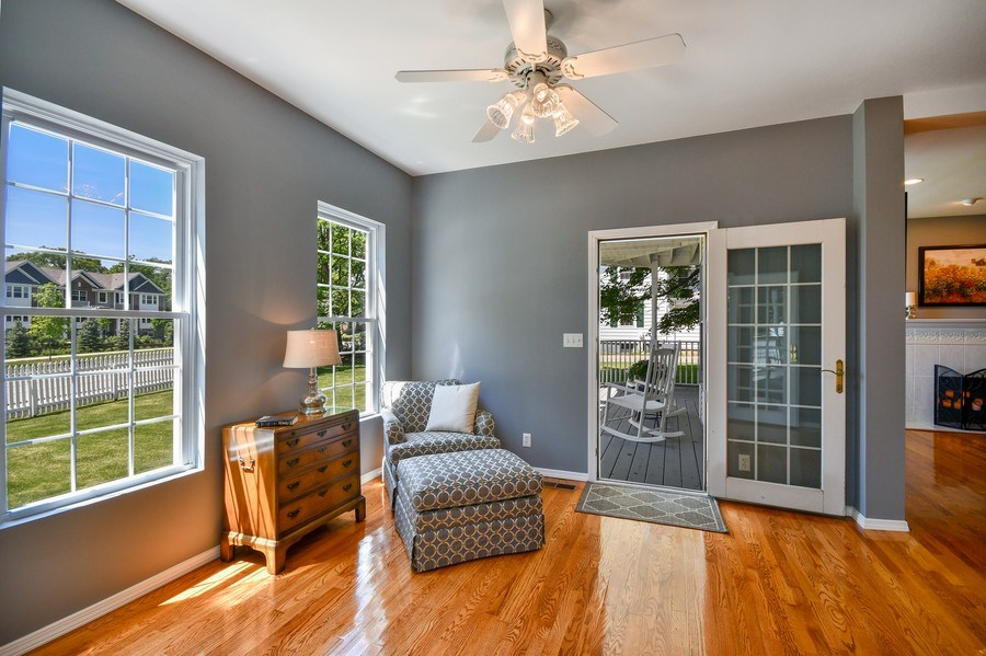Real Estate Photography - 26W018 Bauer Rd, Naperville, IL, 60563 - Comfortable reading nook w/porch access